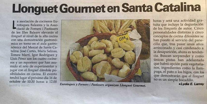 llonguet Gourmet en Mercat de Santa Catalina por Ultima Hora