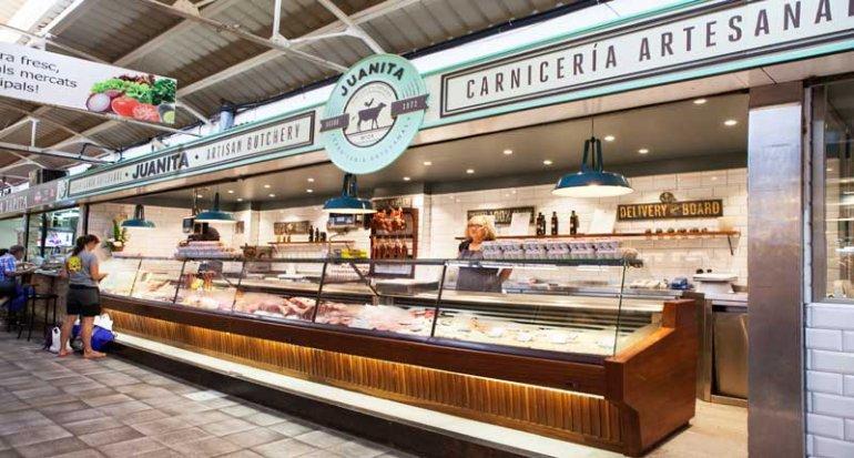 Carniceria Juanita carnes selectas en mercado de santa catalina mallorca