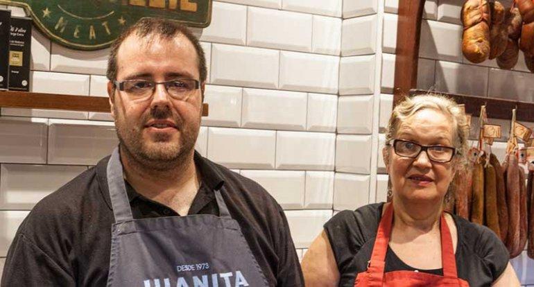 Carniceria Juanita en mercado de santa catalina mallorca