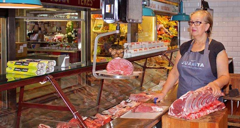 Carniceria Juanita en mercado de santa catalina mallorca carnes selectas