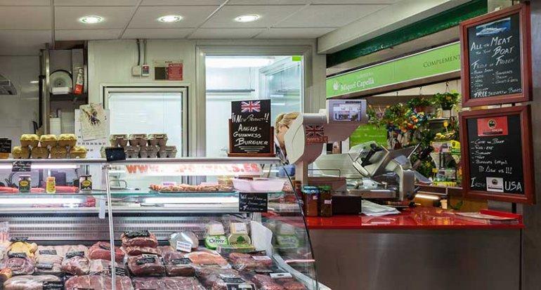 Carniceria DS Portals quality butchers en mercado de santa catalina mallorca