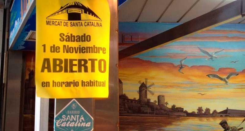 Mercado Santa Catalina abierto el dia de todos los santos