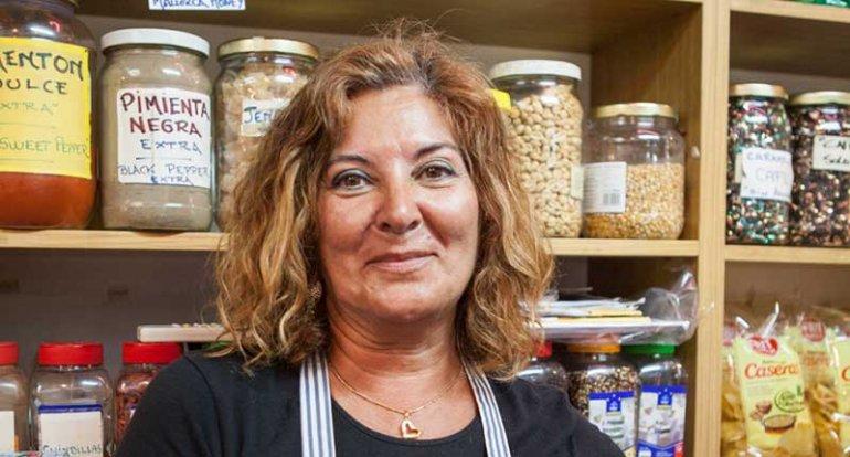 Frutos Secos Tambor de Metla en mercado de santa catalina mallorca
