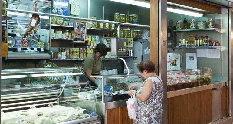 Encurtidos Can verd en mercado santa catalina mallorca