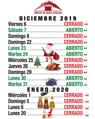 Christmas 2020 Schedule