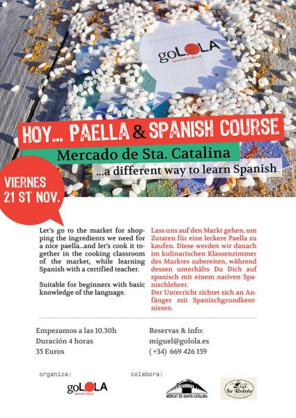 Mercat de Santa Catalina Paella con golola