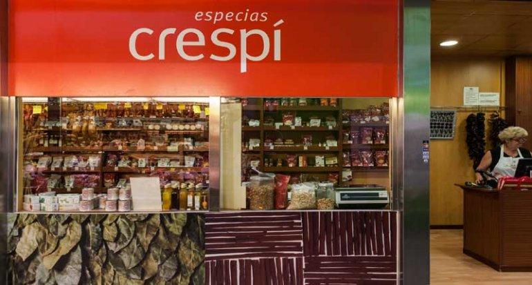 Especias Crespi parada en mercado de santa catalina mallorca
