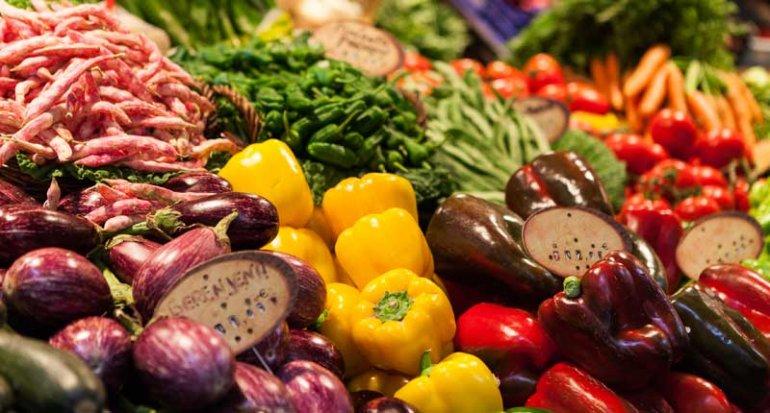 Frutas y verduras Hort Rodat en Mercado de Santa Catalina Mallorca