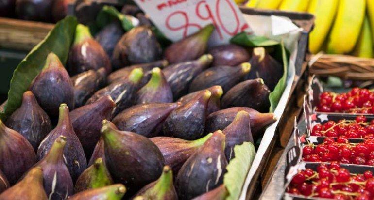 Frutas y verduras Maria de Porreres productos de pages en Mercado de Santa Catalina Mallorca