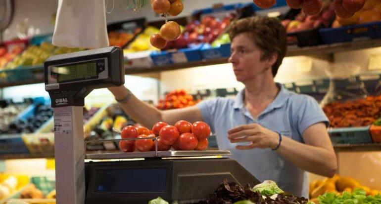Frutas y verduras Maria de Porreres en Mercado de Santa Catalina Mallorca