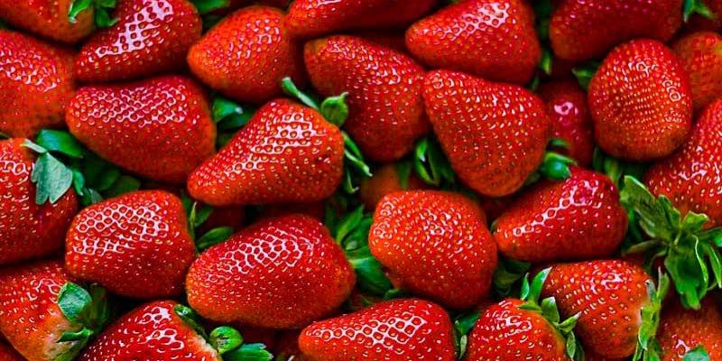 Mercado de Santa Catalina fresas producto de temporada