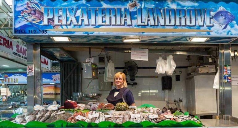 Pescadería Landrove en Mercado de Santa Catalina