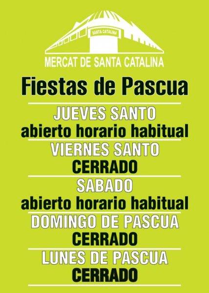Horario Semana Santa Mercat de Santa Catalina