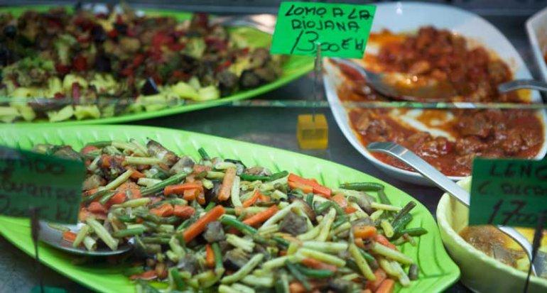 Palma Pollo comidas preparadas en mercado de santa catalina mallorca