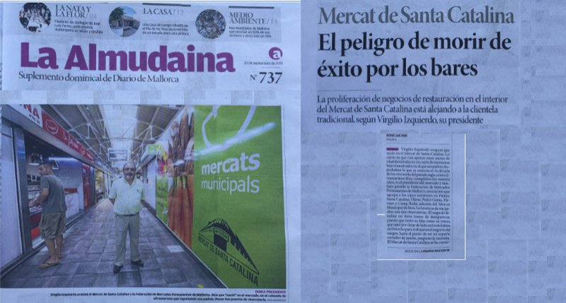 The newspaper called Almudaina visit the Santa Catalina Market