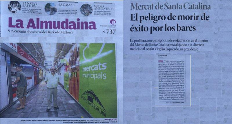 El periodico La Almudaina visita El Mercat de Santa Catalina